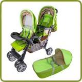 Exclusive Tandem - Twin Pram garden - - Prams and Pushchairs, Promo