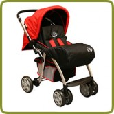 Footcover for Drive & Walk system alu, black - Prams and Pushchairs