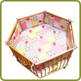 Hexagonal playpen insert rose  - Playpens and Walkers