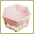 Playpen hexagonal + insert white/pink  - Playpens and Walkers, Promo