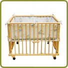 Playpen rectangular + insert blue - Playpens and Walkers