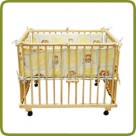 Playpen rectangular + insert yellow - Playpens and Walkers