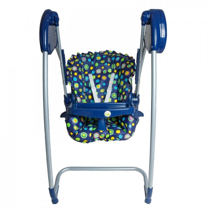 2 in 1 Highchair + Baby Swing new blue navy- Highchairs ...